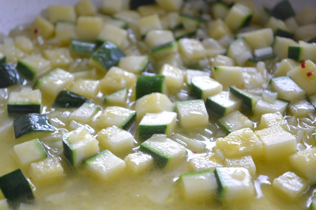 Opskrift på gnocchi med courgette og rejer