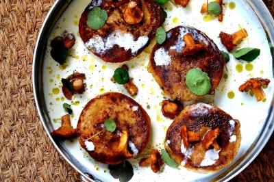 Kartoffelravioli med kantareller