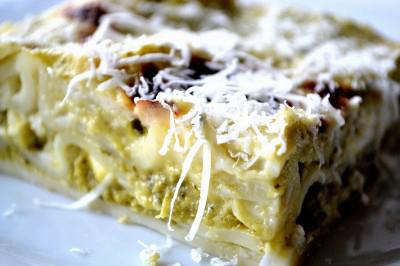 Lasagne med pesto og ricotta