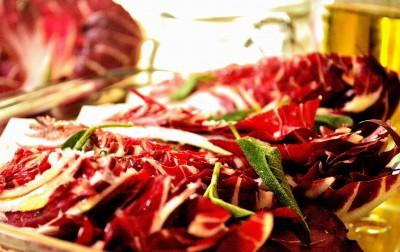 Ovnbagt radicchio-salat