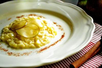 Risotto med pære og Pecorino
