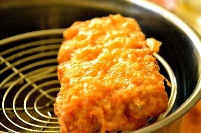 Friteret brød med mozzarella