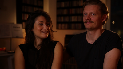 Claus Pedersen og Claudia Amendola