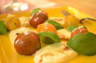 Caprese med hjemmelavet mozzarella