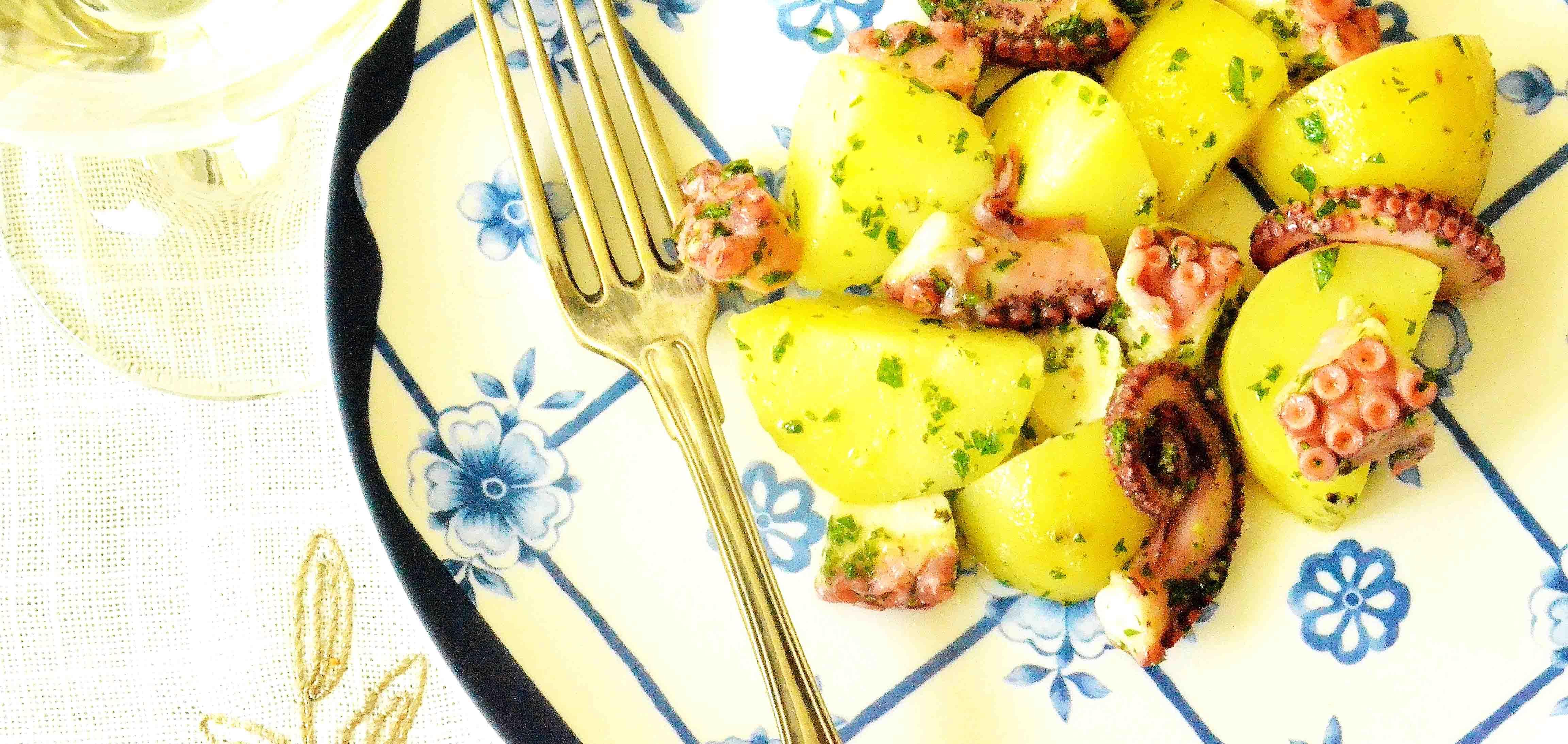 Blækspruttesalat med nye kartofler