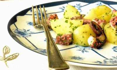 Blækspruttesalat med kartofler
