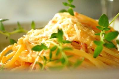 Spaghetti med chilipølse og ricotta