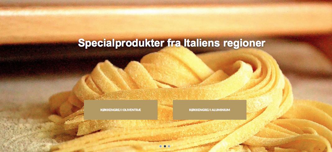 Nyt italiensk køkkengrej på shoppen