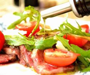Grillet højreb med rucola og parmesan